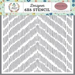 Distressed Chevron Stencil