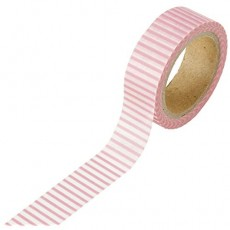 Washi Pink and White