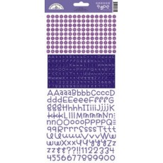 Lilac Teensy Type Alpha Stickers
