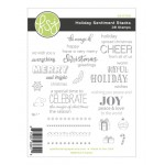 Holiday Sentiment Stacks Stamp - FSJ